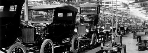 1924 Model T Assembly Line: The 10 millionth Model T was produced on June 4, 1927.